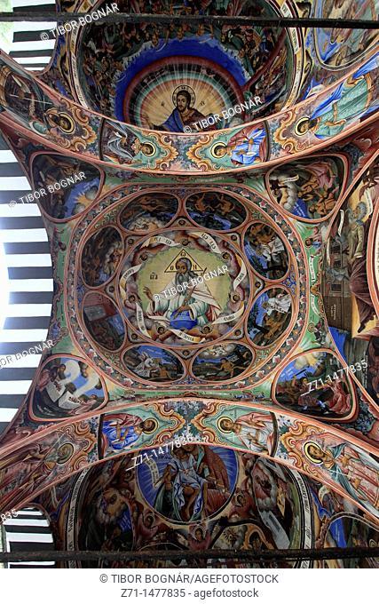Bulgaria, Rila Monastery, Nativity Church, frescoes