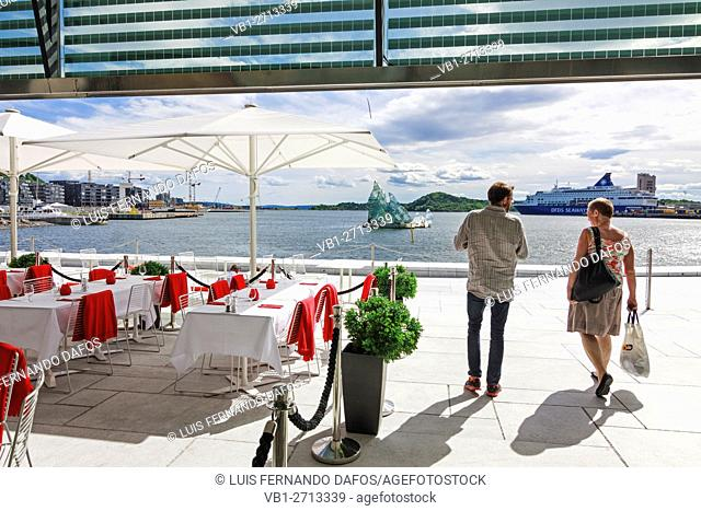 Restaurant at the Opera Hall, Oslo, Norway
