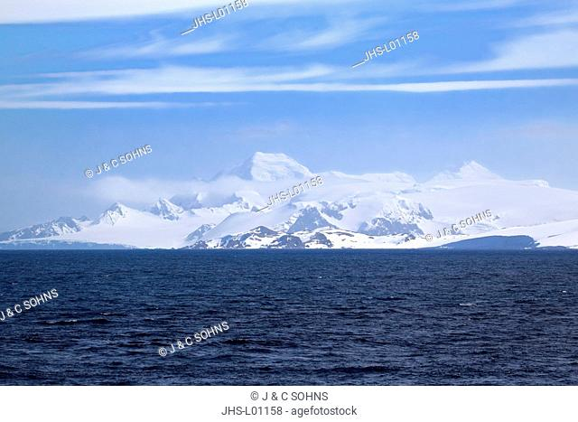 Continent of Antarctica, View Point, Antarctica, Weddell Sea, Antarctic Landscape in summer