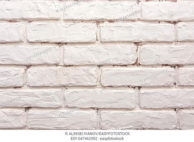 Texture - white bricks on the wall
