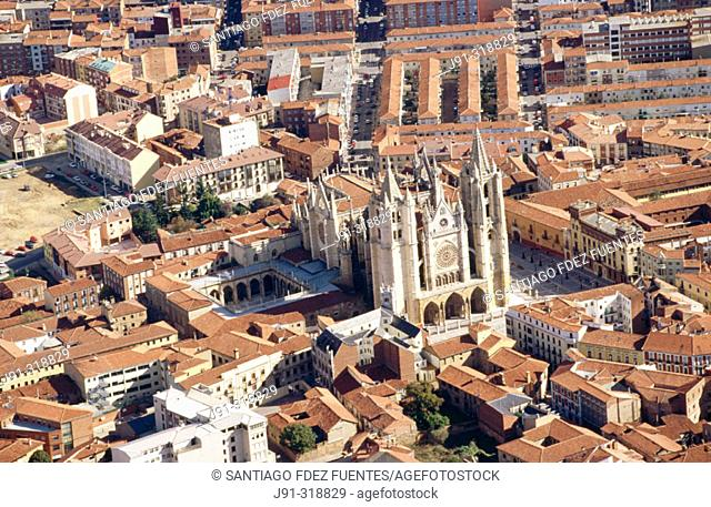 Gothic cathedral. León. Spain