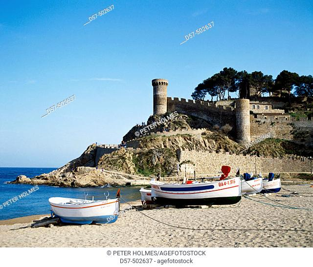 Tossa de Mar (Costa Brava). La Selva, Girona province, Catalonia, Spain