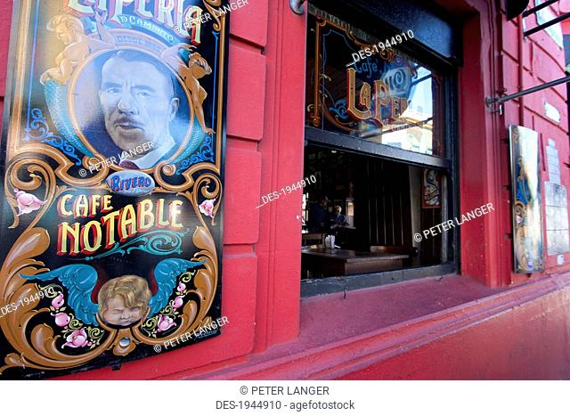 Cafe Notable, The pearl of Caminito in Barrio La Boca, Buenos Aires, Capital Federal, Argentina