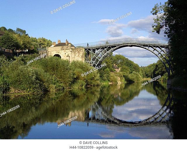 Ironbridge, iron, bridge, gorge, River Severn, river, Severn, Shropshire, England, Europe, UK, United Kingdom, United