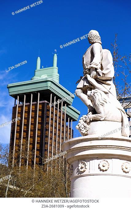 BBVA Tower, Torre del Banco de Bilbao, Madrid, Spain, Europe