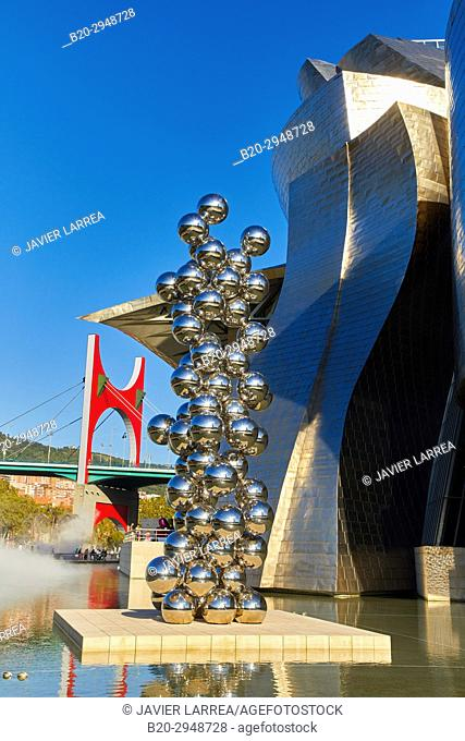 Anish Kapoor, Tall Tree & The Eye, Guggenheim Museum, Bilbao, Bizkaia, Basque Country, Spain, Europe