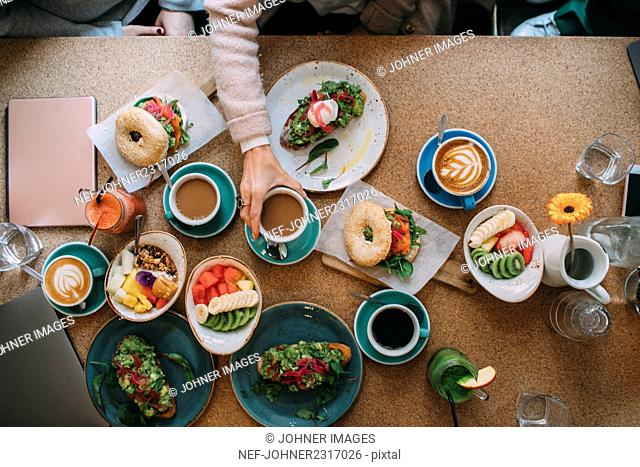 People having breakfast