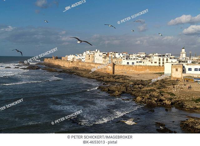 City wall and medina on the coast, Essaouira, Morocco