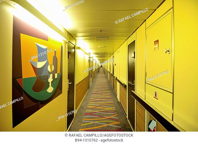 Cruise ship, rooms area