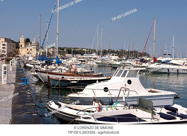 Italy, Campania, Procida island, Marina Grande harbour