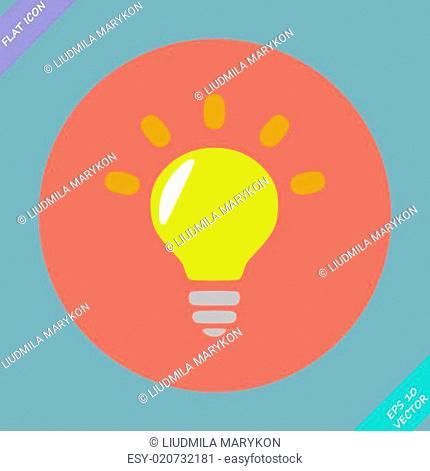 Light lamp sign icon. Idea symbol - vector