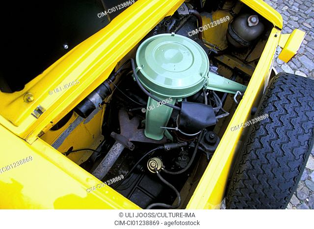 Car Siata Spring Convertible Model Year 1968 1970 Yellow Vintage