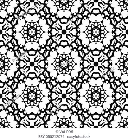 Ornamental Seamless Line Pattern. Endless Texture. Oriental Geometric Ornament