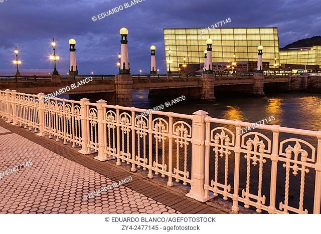 Kursal and bridge. Donostia. San Sebastian. Euskadi. Vasque country. Spain. Europe