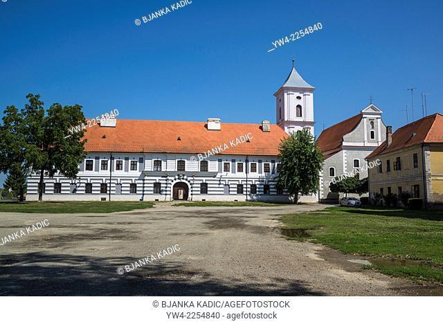 Church of the Holy Cross, Sv Kriz, and monastery, The Fort, Tvrdja, Osijek, Slavonia, Croatia