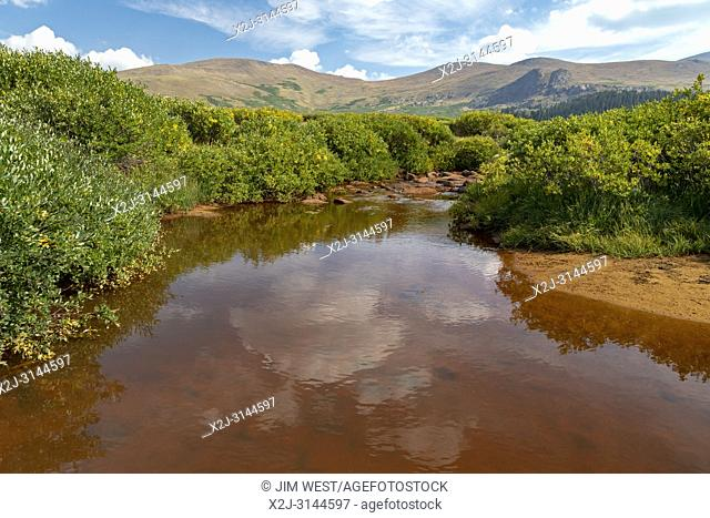 Georgetown, Colorado - A stream in the Rocky Mountains at Guanella Pass, below 14,060-foot Mt. Bierstadt in the Mt. Evans Wilderness Area