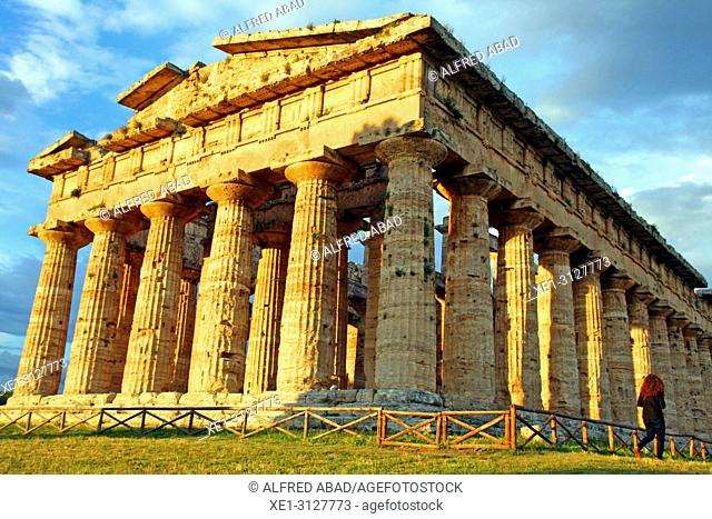Temple of Neptune, archaeological park, Paestum, Italy