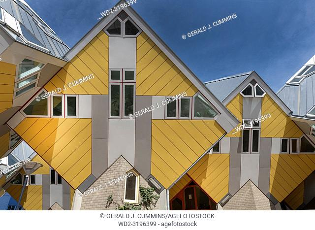 Yellow Cube Houses, Rotterdam, Holland