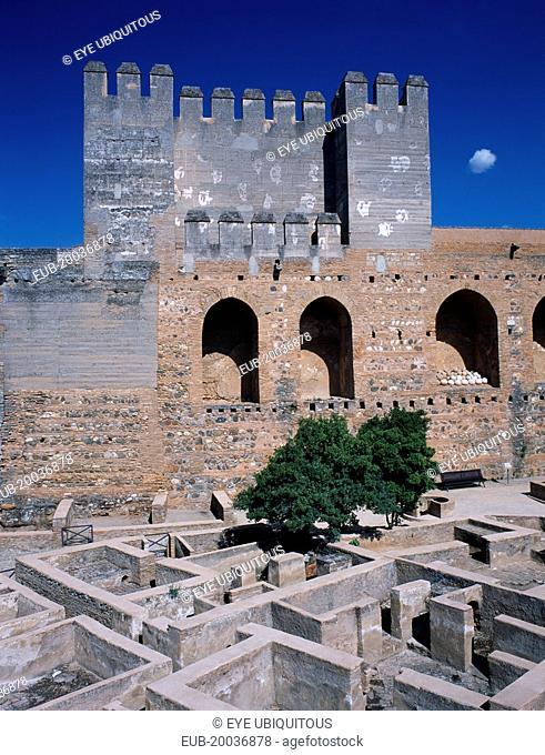 Alhambra Palace. The Alcazaba interior view