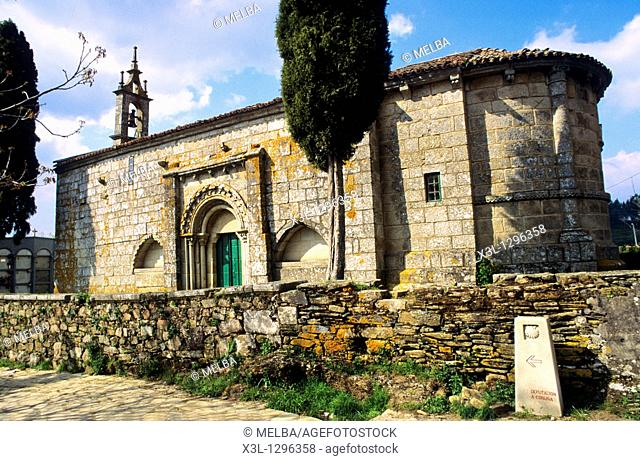 Santa Maria church  13 th century  The Way of Saint James  Meilde  La Coruña  Galicia  Spain