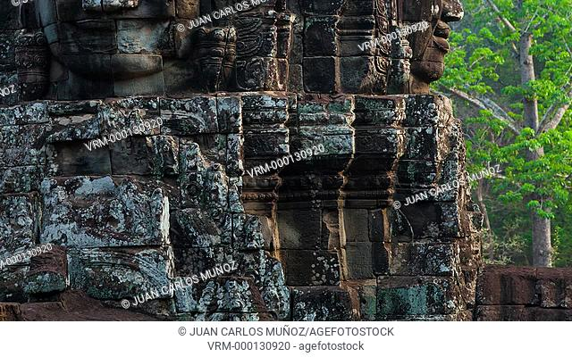 Face-towers. Upper terrace. Bayon Temple. Angkor
