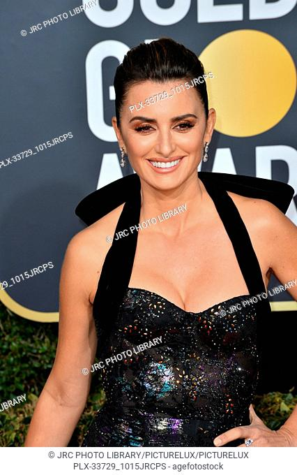 LOS ANGELES, CA. January 06, 2019: Penelope Cruz at the 2019 Golden Globe Awards at the Beverly Hilton Hotel. © 2019 JRC Photo Library/PictureLux ALL RIGHTS...