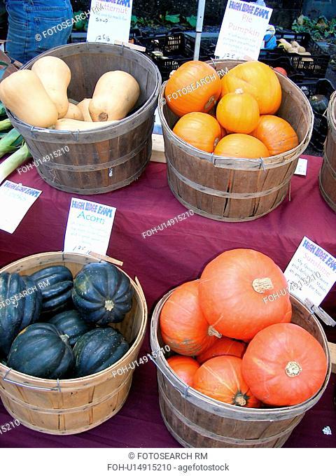 squash, pumpkins, Saturday Farmers Market, Montpelier, VT, Vermont