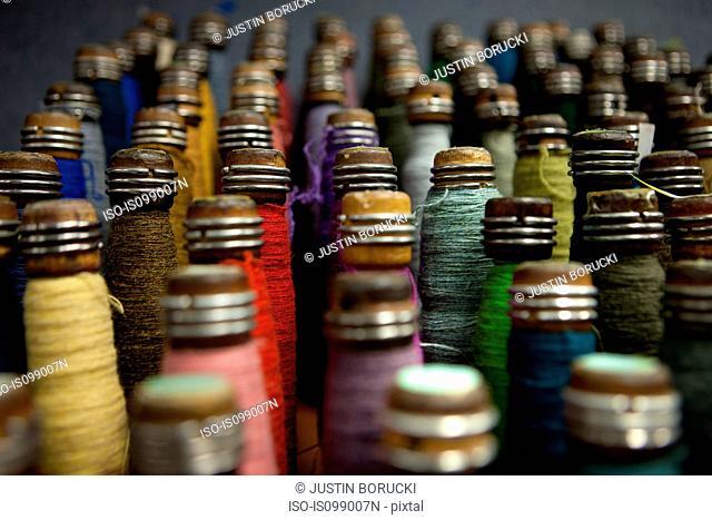 Spindles of wool