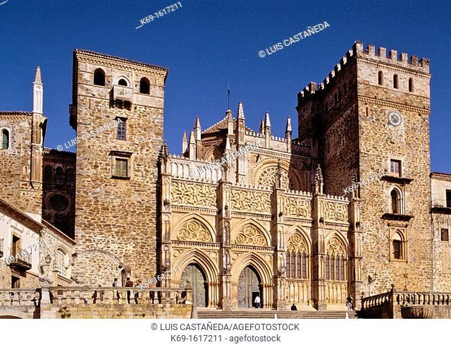 The Royal Monastery of Santa Maria de Guadalupe is a Roman Catholic monastic establishment in Guadalupe, Cáceres, a province of the Extremadura autonomous...