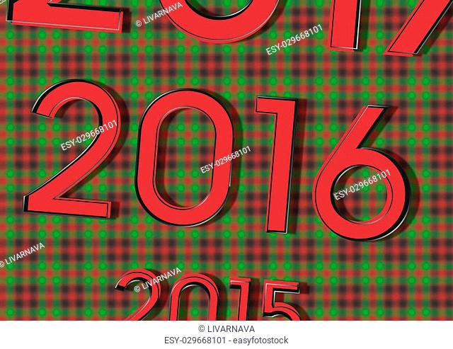 Great figures 2015 replaces the 2016 and 2017 .. its like a calendar. on Christmas background