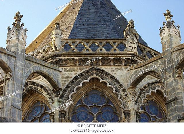 Tours Cathedral, Saint Gatiens cathedral, The Way of St. James, Chemins de Saint Jacques, Via Turonensis, Tours, Dept. Indre-et-Loire, Region Centre, France
