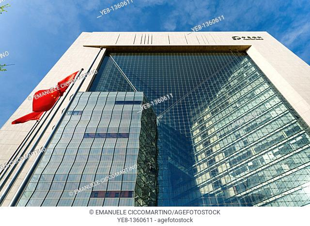 New Poly Plaza, the world's largest glass facade, by Skidmore Owings & Merrill, 2007, Dongcheng District, Beijing, China, Asia