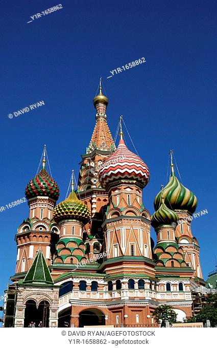 Russia, Moscow, St  Basil's Cathedral 1555-1561