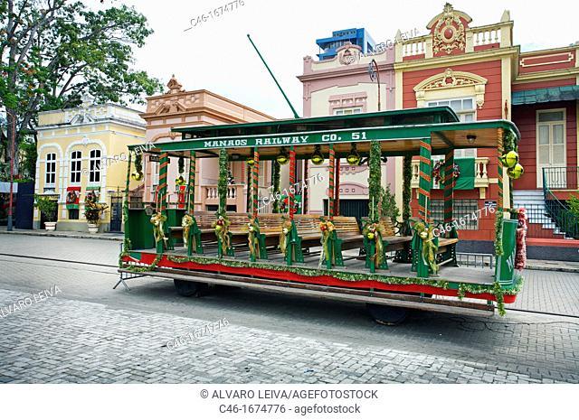 Old train, Manaus  Amazonas state, the Amazon, Brazil