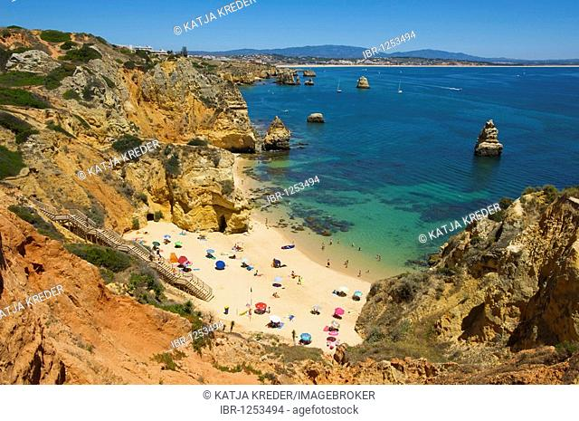Praia do Camilo near Lagos, Algarve, Portugal, Europe