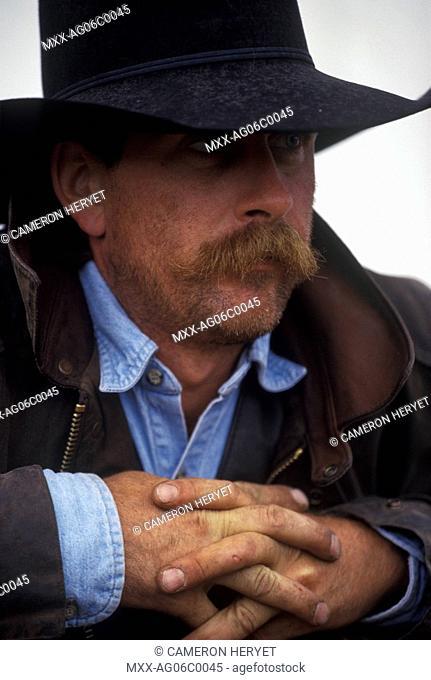 Cowboy, Douglas Lake Ranch, Nicola Valley, British Columbia, Canada