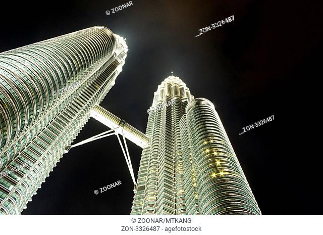 Petronas twin towers in Kuala Lumpur, one of the tallest buildings