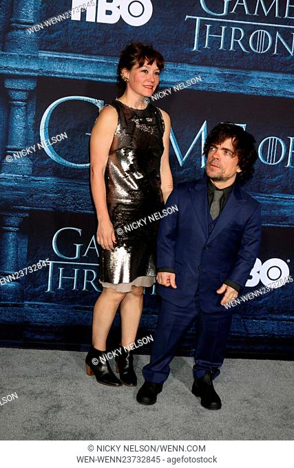 'Game of Thrones' Season 6 premiere screening held at TCL Chinese Theater IMAX Featuring: Erica Schmidt, Peter Dinklage Where: Los Angeles, California