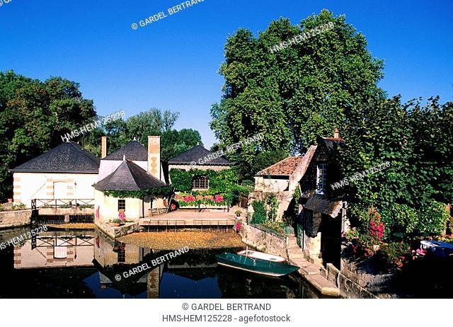 France, Indre et Loire, Azay le Rideau, the old wash house