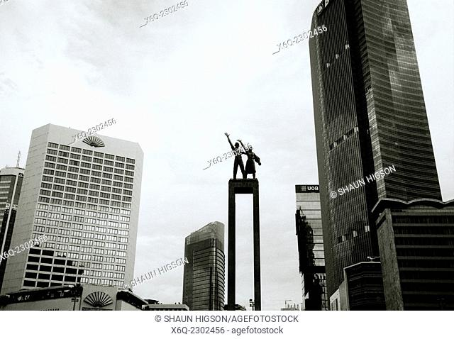 Selamat Datang Monument in Jakarta in Indonesia