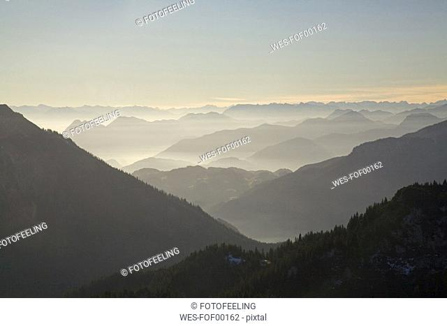 Germany, Bavaria, Chiemgau Alps, mountain scenery