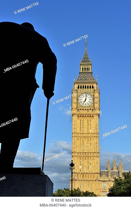 United Kingdom, London, Westminster, Houses of Parliament and Big Ben