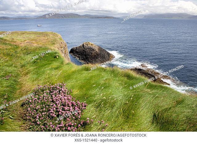 Staffa island near Isle of Mull, Argyll and Bute, Scotland
