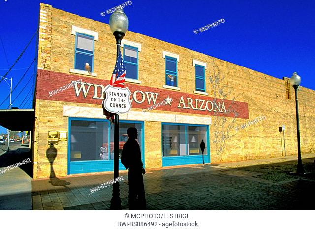 memorial place for the song get your kicks on route 66 in Winslow, USA, Arizona, Winslow