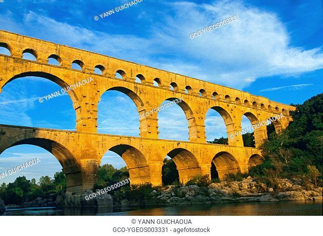 Roman Acqueduct Of Gard, Nimes, France
