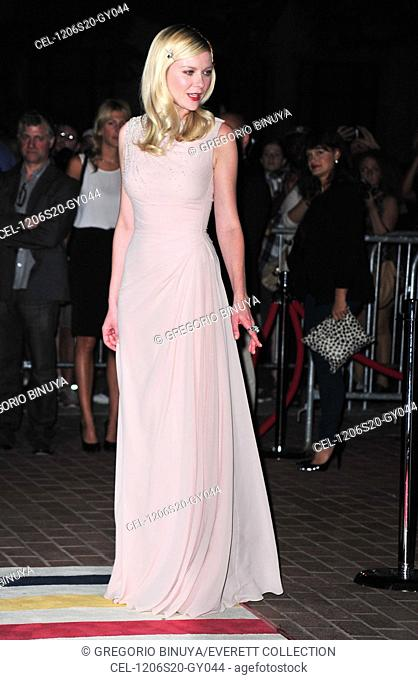 Kirsten Dunst (wearing a Christian Dior gown) at arrivals for ON THE ROAD Premiere at Toronto International Film Festival, Ryerson Theatre, Toronto
