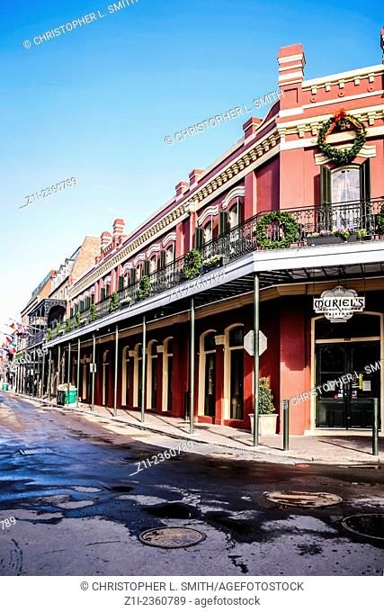 Festive season in the French Qtr of New Orleans LA