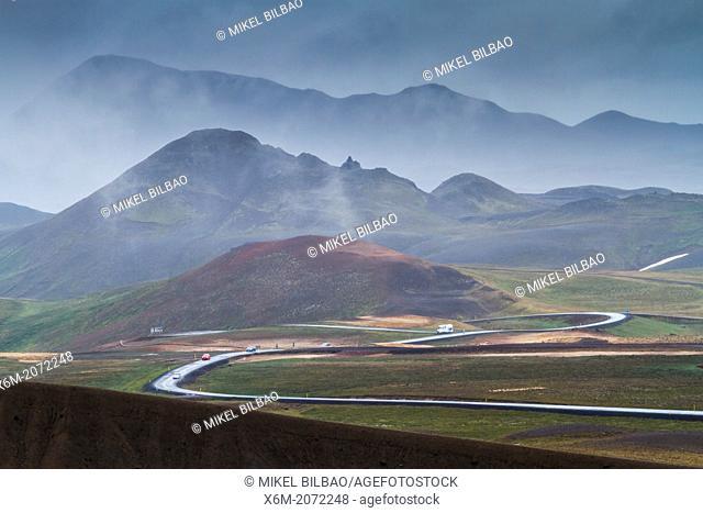 Krafla volcanic area. Iceland, Europe
