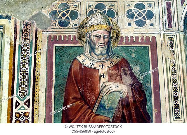 Fresco in the Church of San Domenico, Arezzo. Tuscany, Italy