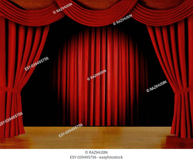red curtains on stage